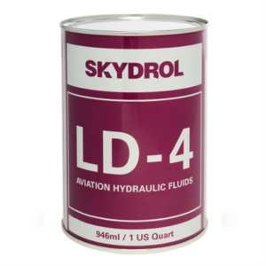 Skydrol LD-4 aviation hydraulic fluid  Eastman™ Skydrol® LD-4 Purple BMS3-11P, Type V, Grade B & C Spec Fire Resistant Hydraulic Fluid – 946 mL (Quart) Can
