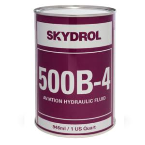 SKYDROL 500B-4 1USQ    Eastman Skydrol 500B-4 Purple BMS3-11P Type IV, Class 2 Spec Fire Resistant Hydraulic Fluid – 946 mL (Quart) Can(w magazynie)